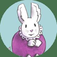 Karsten og Petra navnelapper, Lille kanin