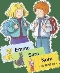 Karsten og Petra navnelapper