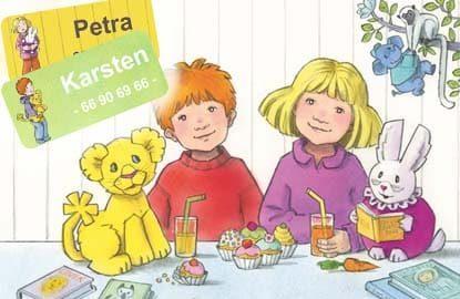 Karsten og Petra navnelapper, på smartlapper.no