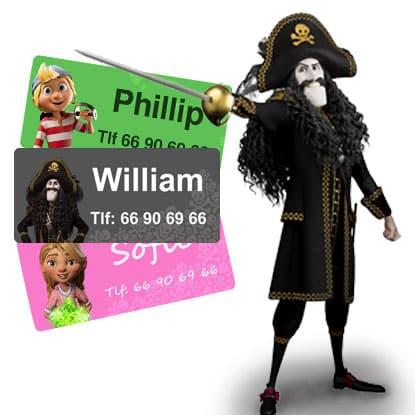 Kaptein Sabeltann navnelapper, til barnehage, klær og andre eiendeler fra Smartlapper.