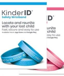 Kinder-ID produktpakke, i blå og rosa