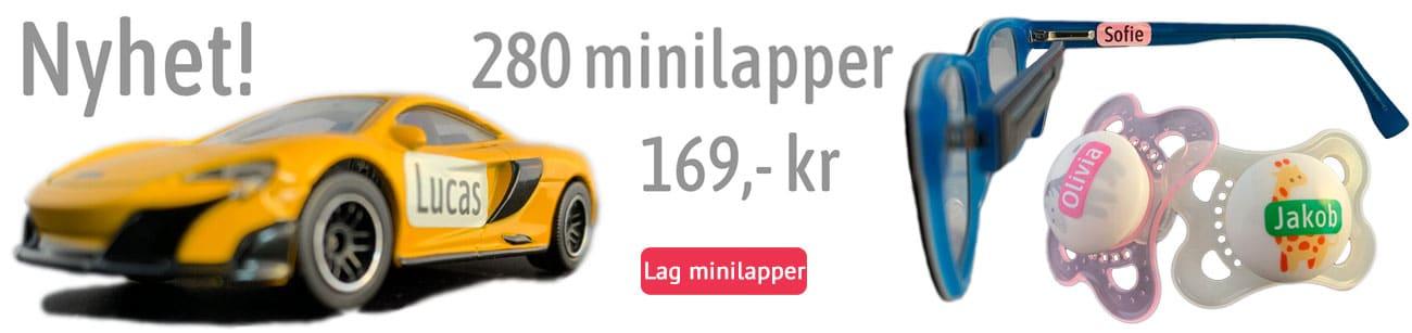Nyhet, 280 minilapper, kr 169,-