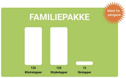 Familiepakke - mest navnelapper for pengene