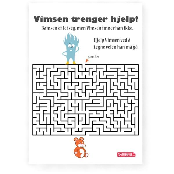Labyrint - hjelp Vimsen å finne bamsen sin