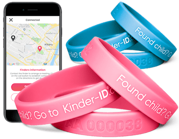 KinderID Trygghetsarmbånd med kobling til din mobil.