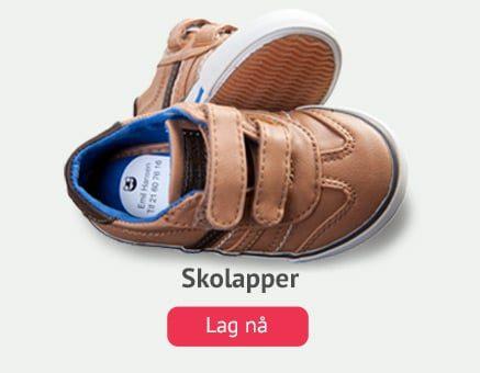 Skolapper, smarte navnelapper til merking av sko