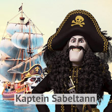 Kaptein Sabeltann Navnelapper. Fås kun på Smartlapper.no