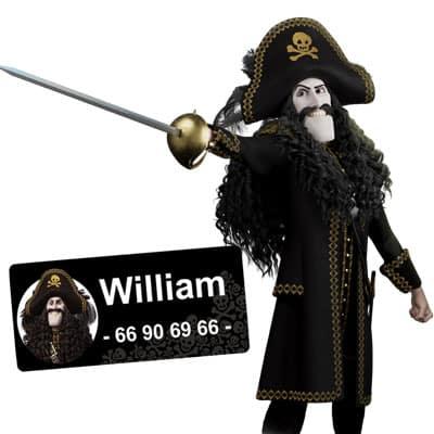 Kaptein Sabeltann navnelapper