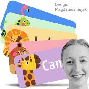Supersøte navnelapper designet av Magdalena Sujak