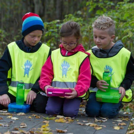 Smart refleksvest til barn i to forskjellige størrelser