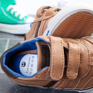 Skolapper til merking av sko
