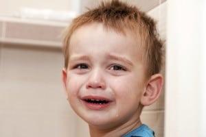 Barnehagestart, gutt som gråter